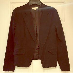 Merona Black Cotton Blazer Sz Med